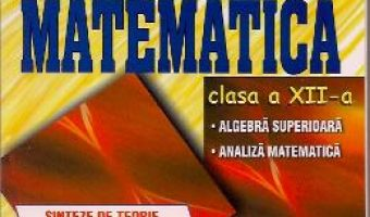 Carte Matematica Cls 12 – Sinteze De Teorie, Exemple Rezolvate. Exercitii Si Probleme – Catalin-Petru Nico PDF Online